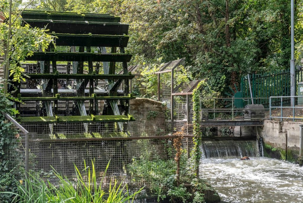 Wimbledon hidden gem - the water wheel at Merton Abbey Mills