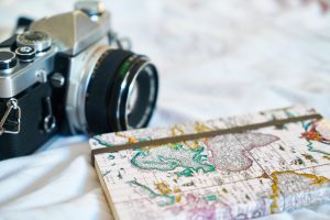Camera and travel journal