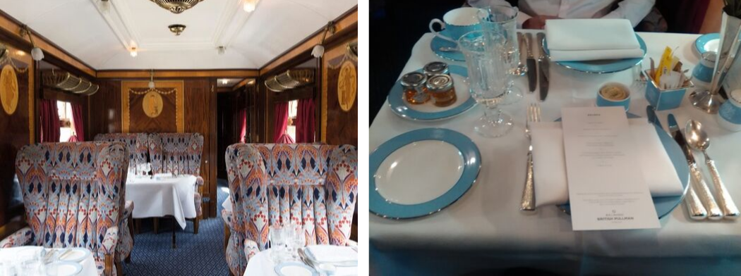 British Pullman - Ione interior and table setting
