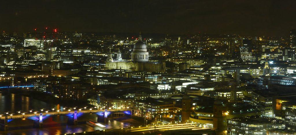 View from Aqua Shard, London