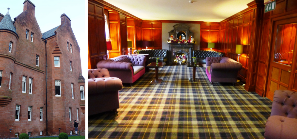 Fonab Castle and the whisky lounge, Pitlochry, Perthshire, Scotland - great place for a Hogmanay break at a Scottish castle