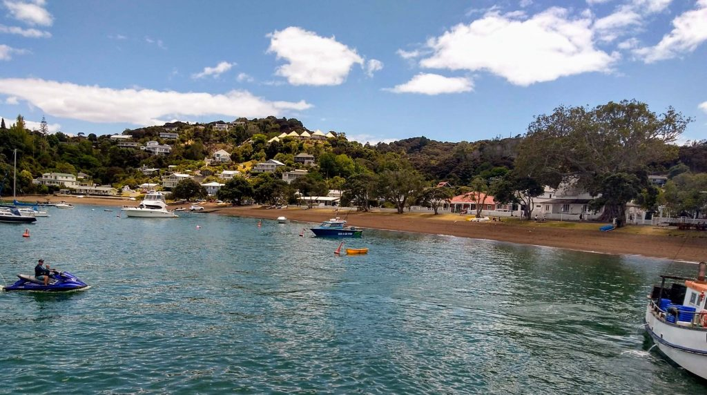 View of the waterfront in Russell, Bay of Islands, New Zealand