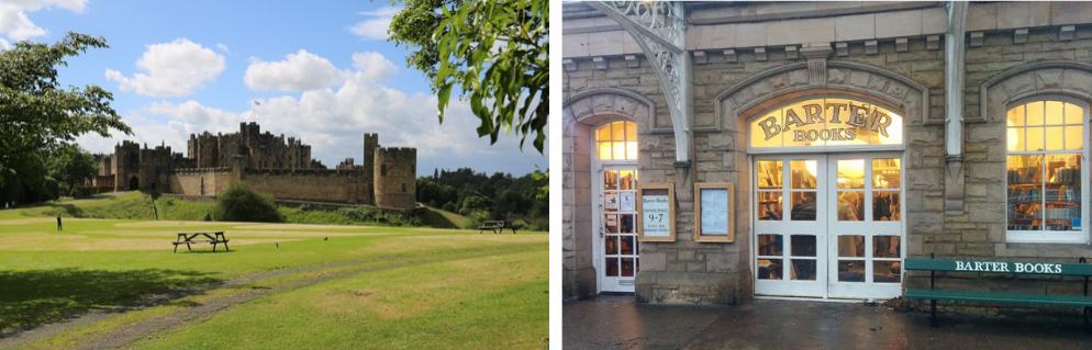 Alnwick Castle and Barter Books