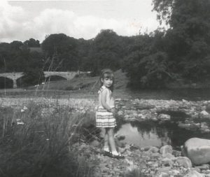 Young girl by the river in Barnard Castle