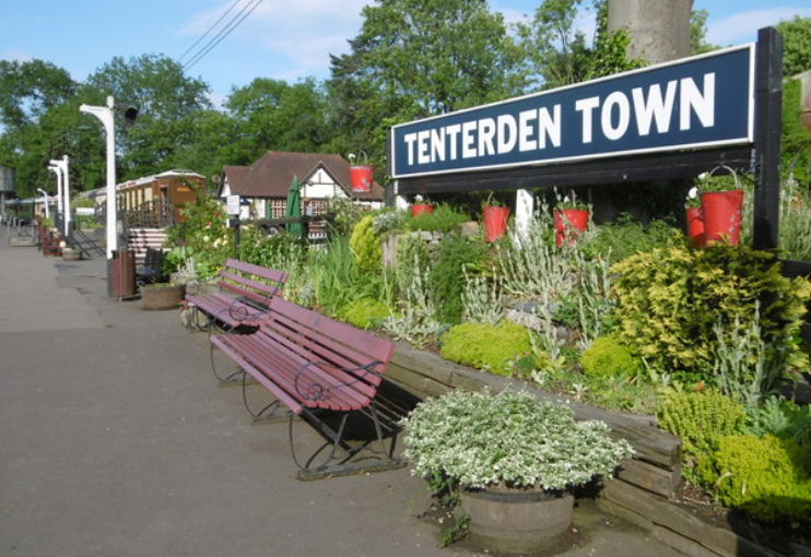 Tenterden station on the Kent and East Sussex Railway