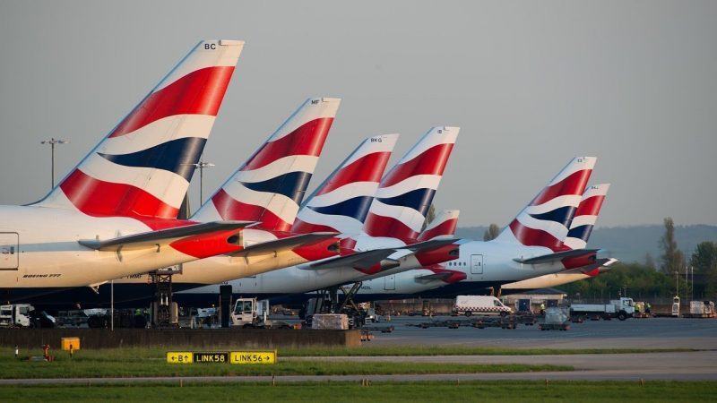 BA jets at London Heathrow