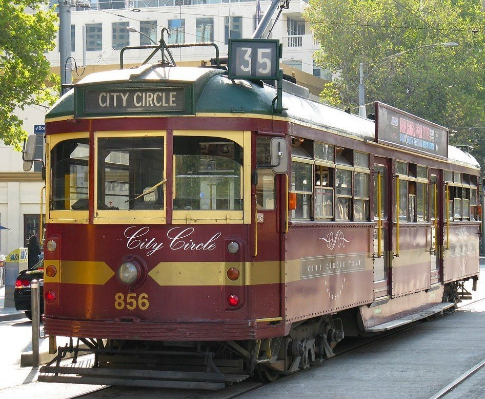 Free transport in Melbourne - the City Circle tram. A great travel hack.