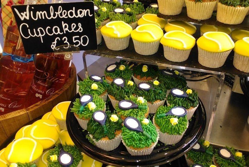 Wimbledon tennis cup cakes
