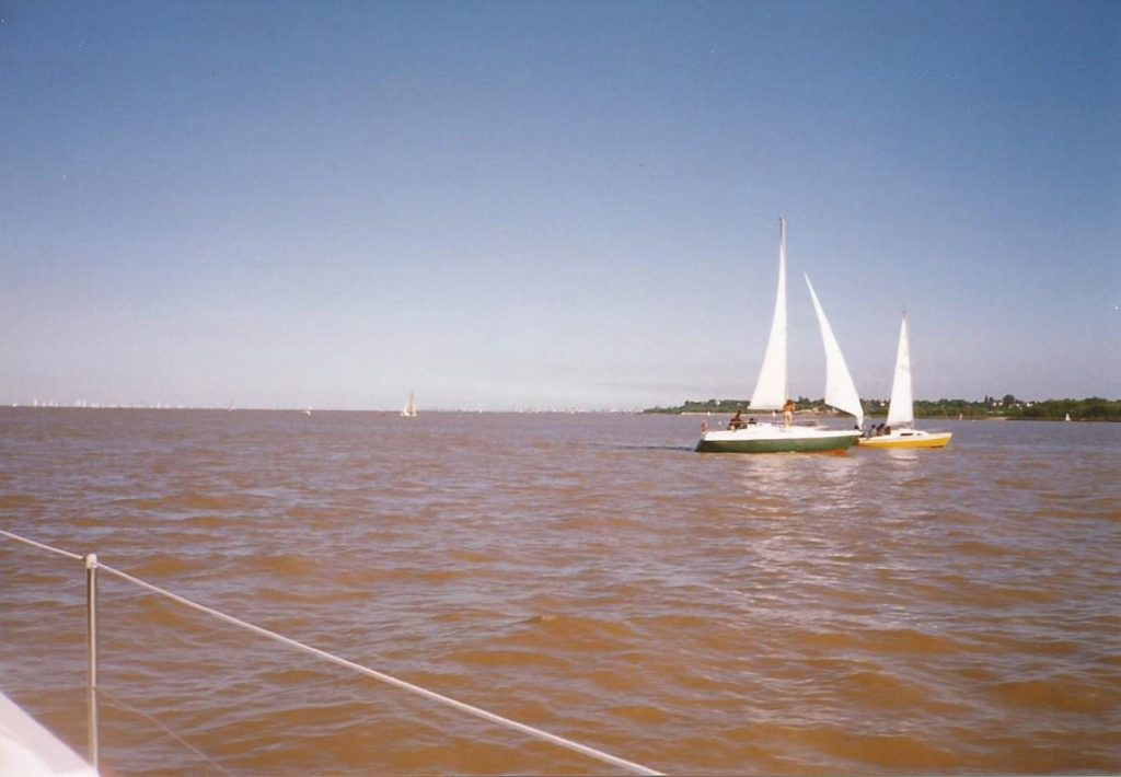 The River Plate at Buenos Aires, seen from a boat