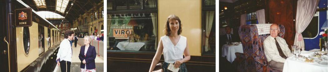 British Pullman - Carole and parents at Victoria Station, London