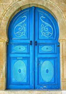 Doorway in Sidi Bou Said Tunisia