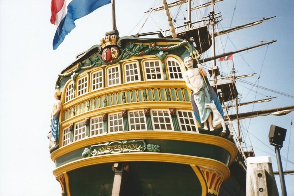 18th century cargo ship of the Dutch East India Company