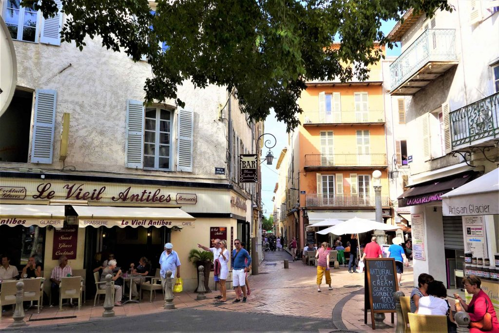 Shops in the centre of Antibes, France