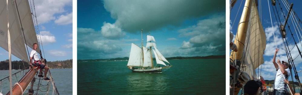 The R. Tucker Thompson gaff-rigged schooner
