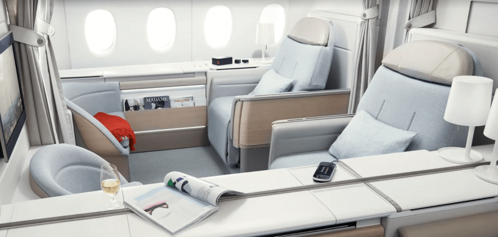 All Nippon Airways business class cabin - the stuff of dreams when you can't travel