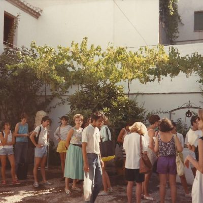 Students visiting the home of Garcia Lorca in Fuente Vaquero, Granada