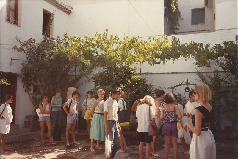 Students visiting the home of Garcia Lorca in Fuente Vaquero, Granada