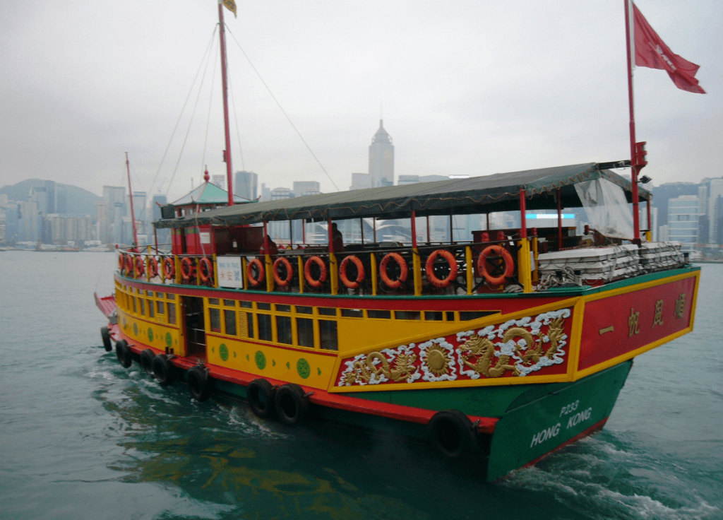 Traditional boat on Hong Kong harbour - an inspiring image for those who can't travel
