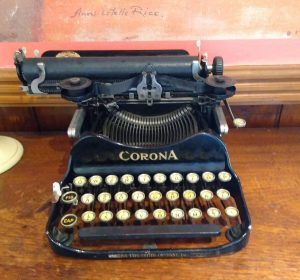 Typewriter which belonged to Katherine Mansfield's father Harold