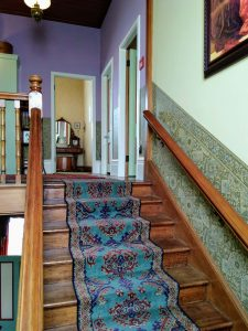 Staircase at Katherine Mansfield's house