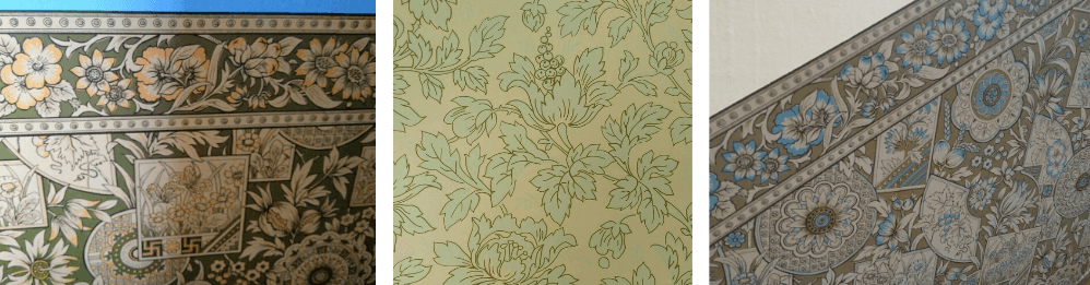 Wallpaper designs in the house which was Katherine Mansfield's birthplace in Wellington