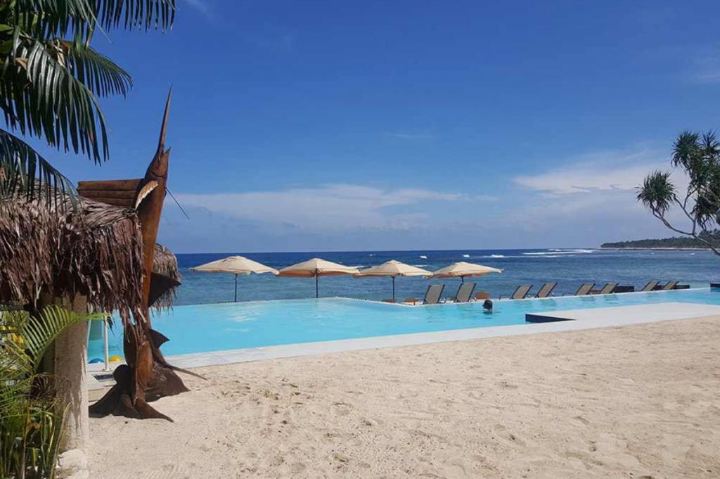 Infinity pool at Breakas resort