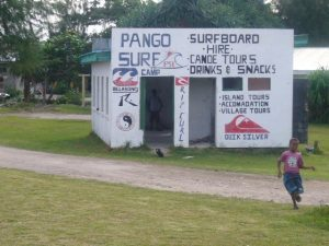 The former Pango surf shop in Vanuatu
