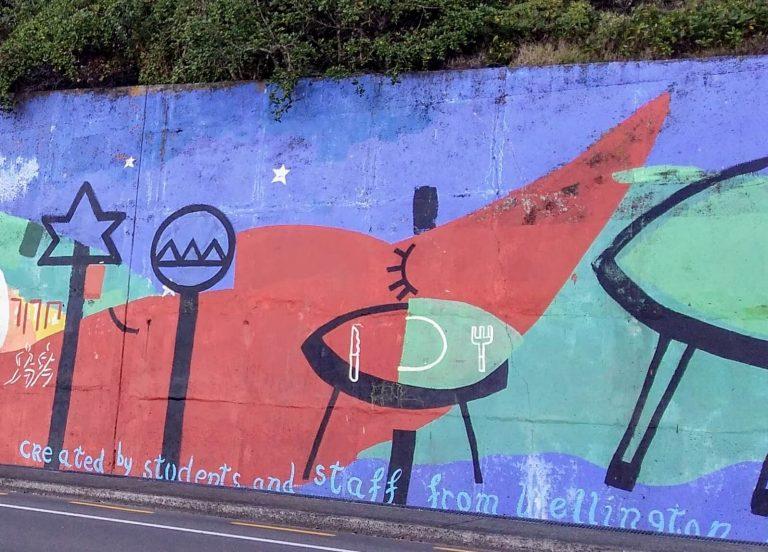 Quirky street art of eastern Wellington, New Zealand