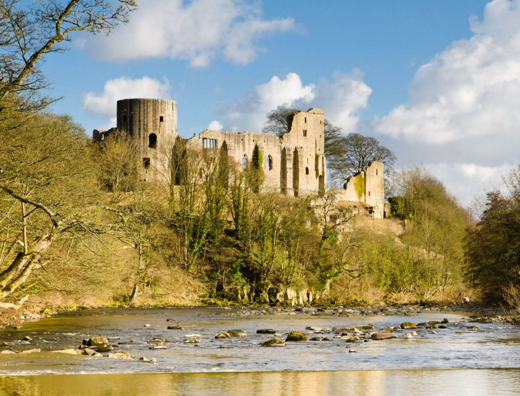 Barnard castle and the River Wear