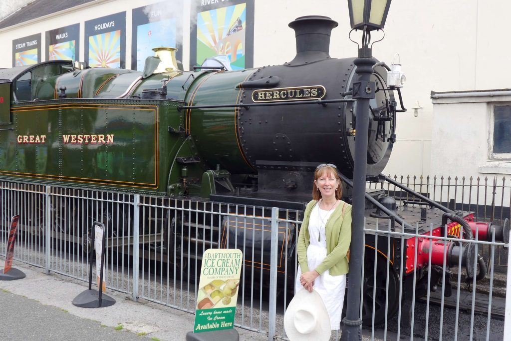 Hercules steam engine at Kingswear Devon