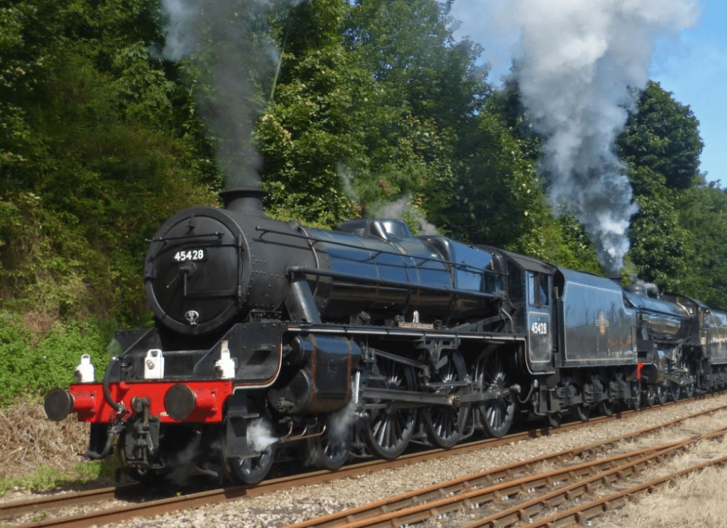 Eric Treacy engine on the North Yorkshire Moors Railway - one of the scenic preserved steam railways of England