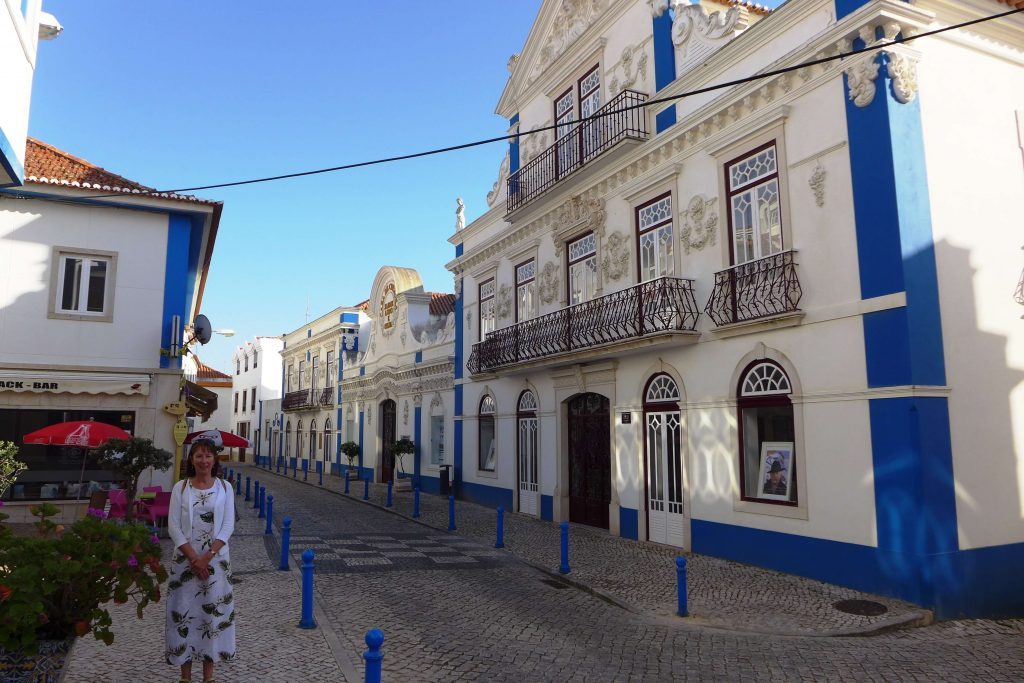 Ericeira Portugal - cobbled streets and attractive buildings