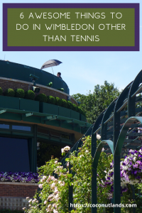 Pinterest pin to save to your board - Wimbledon, 6 things to do other than tennis