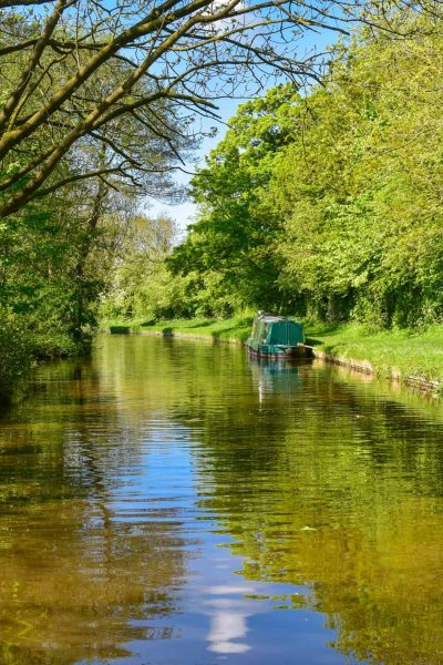Narrow boating on the Llangollen canal in Wales