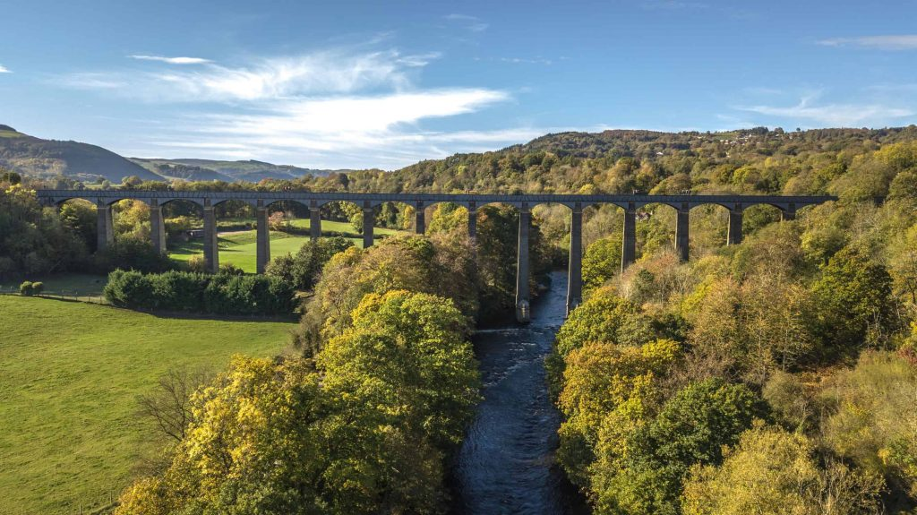 Pontcysyllte Acqueduct in Wales