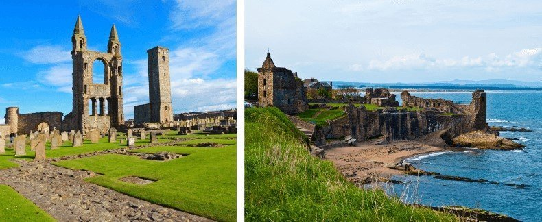 Pictures of St Andrews Cathedral and Castle