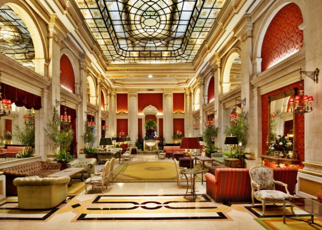 Avenida Palace hotel interior Lisbon