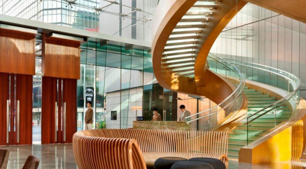 Staircase at the Icon Hotel Hong Kong