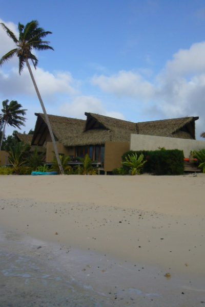 One of the beachfront bungalows at Rumours of Romance, Rarotonga