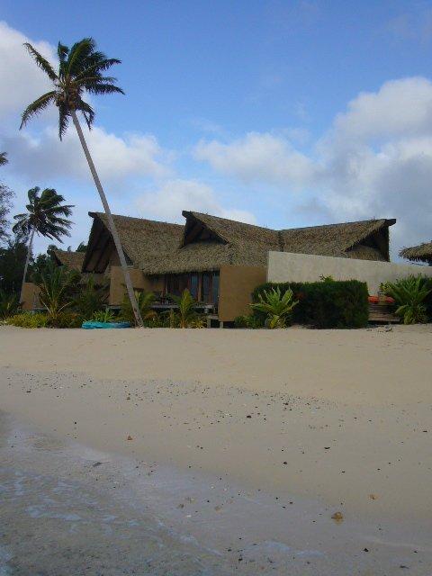 One of the beachfront bungalows at Rumours of Romance, Rarotonga