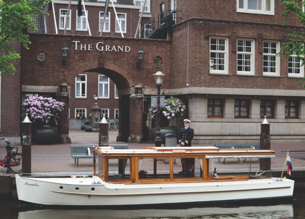 Front of the Sofitel Legend The Grand Hotel Amsterdam