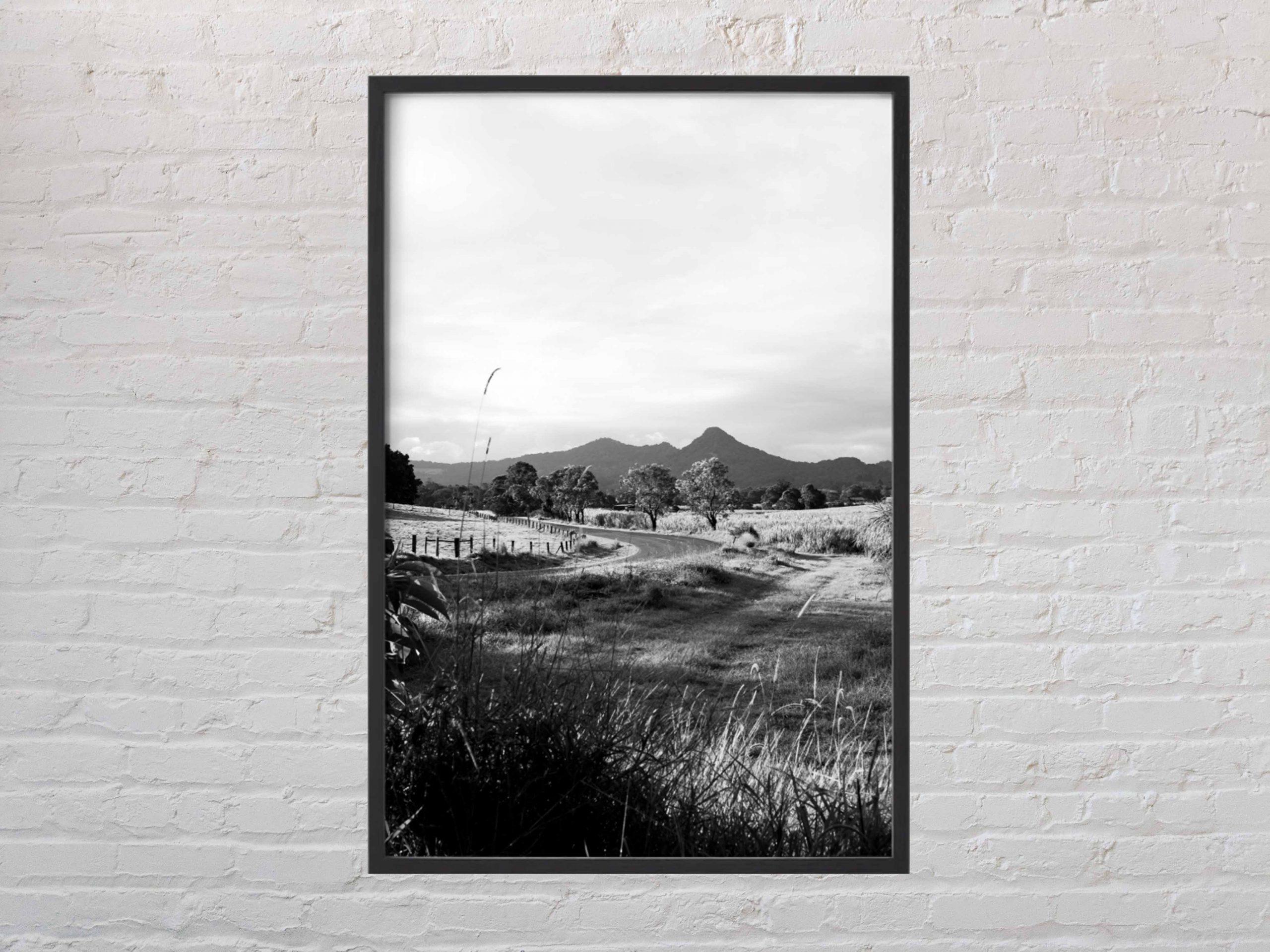 'Apex' shown with black frame. Mount Chincogan, Mullumbimby, NSW, Australia
