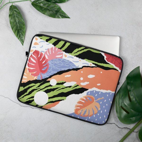 Tropical pop art laptop cover