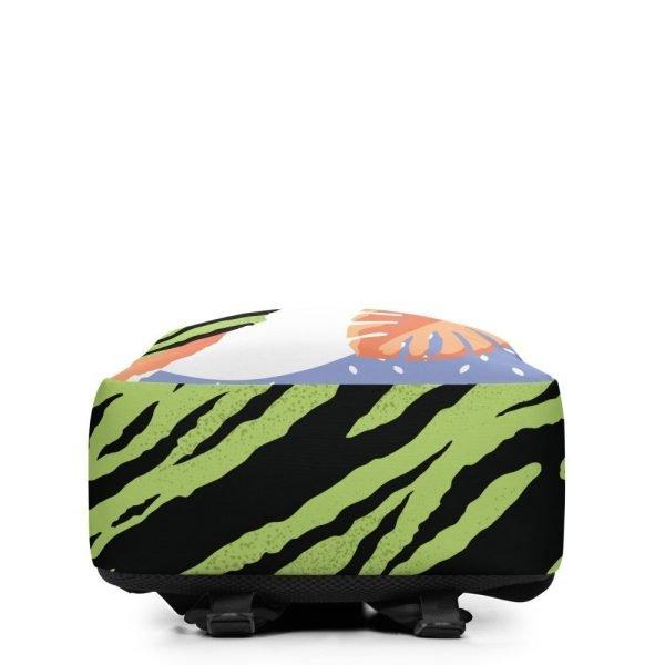 Tropical pop art backpack bottom view