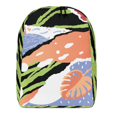 Tropical pop art backpack front