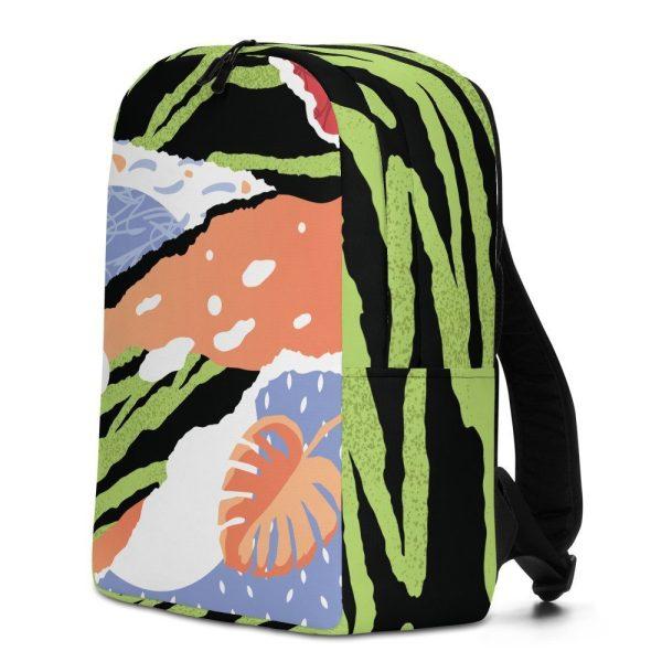 Tropical pop art backpack front left