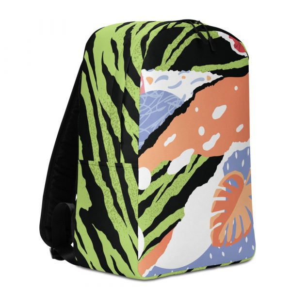 Tropical pop art backpack front right