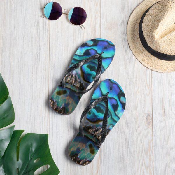 Paua - abalone patterned flip flops
