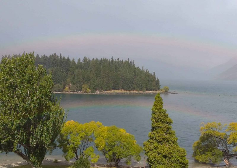 Double rainbow over Lake Wakatipu, Queenstown