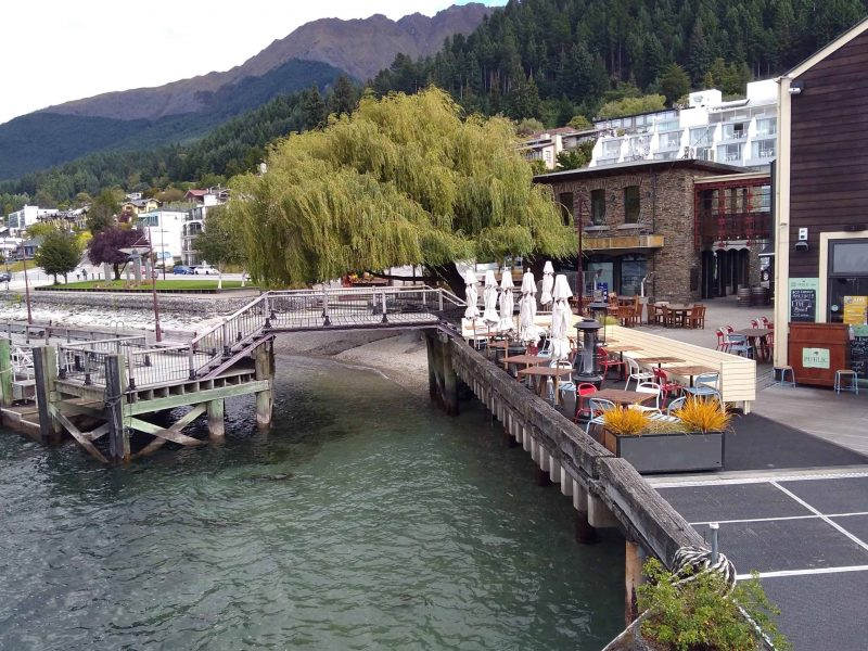 Steamer wharf at Queenstown New Zealand